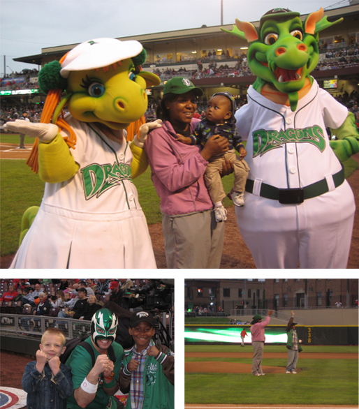 Dragons Pitch CHOICES First Pitch at the Dragons Game